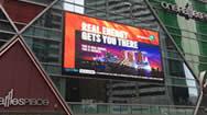 新加坡莱佛土坊(ONE RAFFLES PLACE)楼体户外电子屏广告